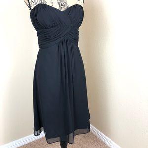 White House Black Market Black Strapless Dress 12